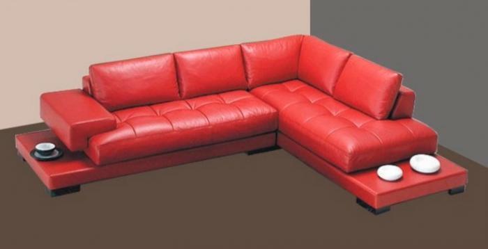 Ъглов диван в червено по поръчка